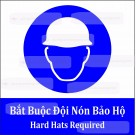 Biến báo bắt buộc đội nón bảo hộ