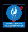 Biển báo đeo nút chống ồn