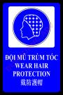 Biển báo bắt buộc đội mũ trùm tóc