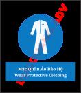 Biển báo bắt buộc mặc quần áo bảo hộ