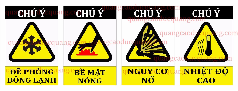 Hình dãng và ký hiệu biển báo an toàn