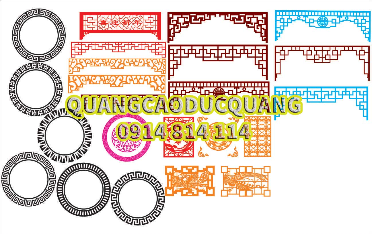 Hoa van cat CNC file corel 07