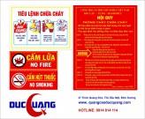 Biển bảng Mica nội quy, tiêu lệnh PCCC giá rẻ