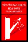 Biển báo tắt cầu dao điện khi có sự cố cháy