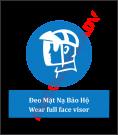 Biển báo đeo mặt nạ bảo hộ