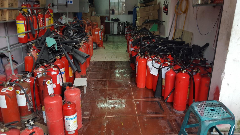 Nạp bình chữa cháy thủ dầu một bình dương